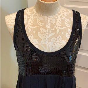 LaRok Black Sequin Party Dress
